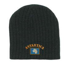 ANTARCTICA FLAG Embroidery Embroidered Beanie Skull Cap Hat