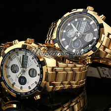 LCD DUAL CHRONOGRAPH ANALOGUE DIGITAL HOURS DATE MEN'S ALLOY STEEL WATCH WHA285