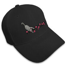 Footnotes Cat Playing Music Embroidery Embroidered Adjustable Hat Baseball Cap