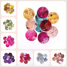 50pcs 18mm Mussel Shell Flat Round Coin Charm Beads for Jewelry Making
