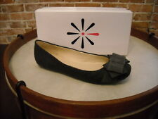 Isaac Mizrahi Megan GRAY Flannel Bow Ballet Flats NEW