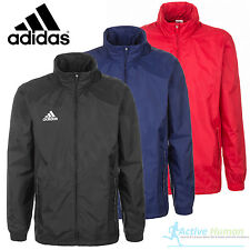 Adidas Mens Core Rain Jacket Waterproof Coat Zip Top Hooded Hoodie Wind Stopper