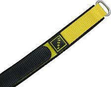 Wrist watch bands Bracelet with Velcro SPORT Nylon yellow 20 mm 22mm