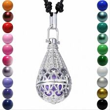 Teardrop Magic Locket Pendant Sound Bell Ball Aromatherapy Angel Caller Necklace