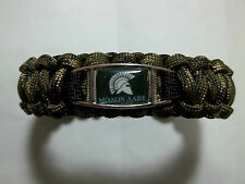 Handmade Molan Labe OD GREEN & CAMO 550 Paracord SURVIVAL Bracelet w/ Buckle