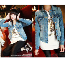 Gothic Women's Lady Frayed Cardigan Denim Vest Jean Waistcoat Jacket Outerwear