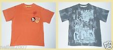 BNWT Boys Red Herring Logo Grey Orange / Cotton Short Sleeve T-Shirt Top Age 5-6