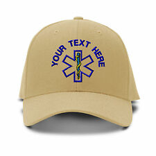 Custom Name Paramedic Embroidery Embroidered Adjustable Hat Baseball Cap