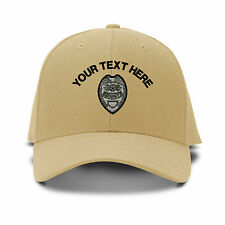 Your Text Here Custom Police Batch Embroidered Adjustable Hat Baseball Cap