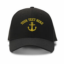 Your Text Here Custom Nautical Embroidered Adjustable Hat Baseball Cap