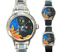 Italian Charm Metal Watch Round Square Cat 551 Ladybug art painting L.Dumas