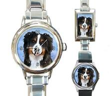 Italian Charm Metal Watch Dog 125 Bernese Mountain from art painting L.Dumas