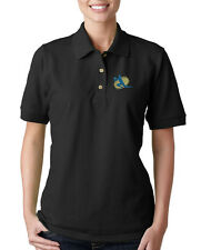 VOLLEYBALL LOGO Embroidery Embroidered Lady Woman Polo Shirt
