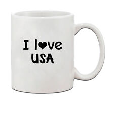 I Love Usa Ceramic Coffee Tea Mug Cup