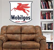 Vintage Mobil Gas Sign WALL GRAPHIC DECAL MAN CAVE OFFICE ROOM OIL DECOR
