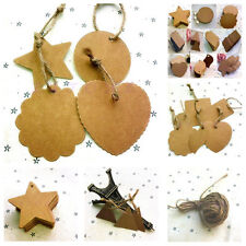 Blank Brown Kraft Paper Hang Tags Wedding Party Favor Label Price Gift Cards
