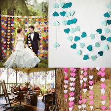 4M Heart Wedding Paper Bunting Banner Photo Props Party Hanging Decoration Nice