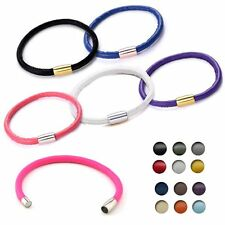 HOT Single Bracelet Charm Magnetic Clasp Wrap Leather Bangle For Charms Beads