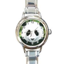 Italian Charm Watch Round Square Panda 3 art painting L.Dumas