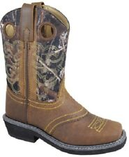 NEW! Smoky Mountain Boots - YOUTH - Western Cowboy - Leather Square Toe - Camo