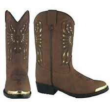 NEW! Smoky Mountain Boots- CHILD'S -Western Cowboy Boot with Gold Phoenix Inlays