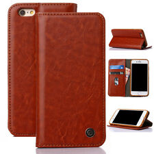 Hot Leather Flip Card Holder Stand Wallet Case Cover for Apple iPhone5s 6 s/Plus