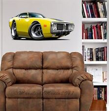 1973 - 74 Dodge Charger WALL GRAPHIC FAT DECAL #9487 MAN CAVE CAR DECOR