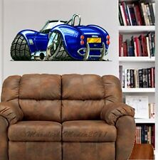 AC Cobra Sports Car WALL GRAPHIC DECAL MAN CAVE ROOM GARAGE #4980