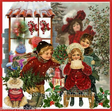 Kids & Christmas ~ Victorian Christmas ~ Counted Cross Stitch Pattern