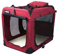 EliteField Maroon 3-Door Folding Soft Dog Crate Cage Kennel 5 Sizes