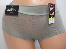 Maidenform Smooth Luxe Gray Lace Trim Boyshort Panty, #40872/MOF