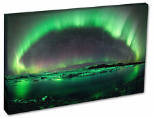 NORTHERN LIGHTS Wall Canvas Print Decor Picture - Green Aurora A1/A2/A3/A4