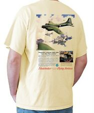 1944 Studebaker Flying Fortress Ad WWII Warbird Airplane Tshirt military art