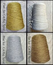 *FREE SHIPPING* So Luscious ~ICE~ Cotton Rayon Spiral Yarns Knit Weave Crochet