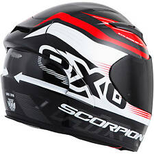 Scorpion EXO-R2000 Fortis Red Full Face Helmet Clear Shield Free Size Exchanges