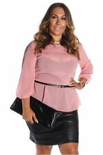 DEALZONE Two Tone Faux Leather Dress 1X Women Plus Size Pink Cocktail