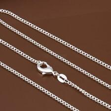 1PC/5PCS 925 Sterling Silver 2MM Rolo Curb Chain Necklace Link 16
