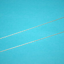 WHOLESALE LOTS 0.8mm 20 ga Sterling SILVER 925 Stringing CHAIN Bulk by the foot