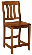 "Amish Lodge 24"" Stationary Counter Height Bar Stool Rustic Mission Cabin Set (3)"