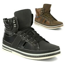 Delli Aldo Mens High Top Lace Up Fashion Sneakers Ankle Boots Shoes M-572