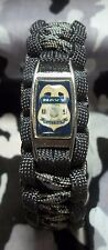U.S. Navy CUSTOMS Badge MILITARY POLICE Paracord Bracelet w/ Buckle MP