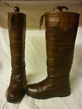 DUBARRY GALWAY LEATHER COUNTRY RIDING BOOTS WALNUT BROWN SIZE UK 3 1/2 GORETEX