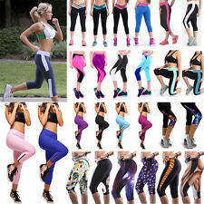 Womens Yoga Fitness Running Leggings Ladies Gym Exercise Sports Pants Trousers