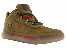 CAT Caterpillar Forseen Bronze Brown Leather Suede Mens Lace Ankle Trainers Shoe