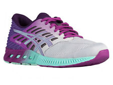 NEW WOMENS ASICS GEL FUZEX RUNNING SHOES TRAINERS SILVER / MINT / ORCHID