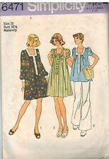 6471 Vintage Simplicity Sewing Pattern Maternity Short Dress Top Casual OOP SEW