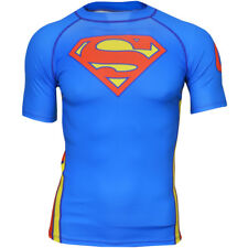 Fusion Fight Gear Superman Classic Logo Short Sleeve Rashguard