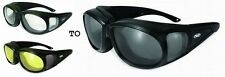 TRANSITION PHOTOCHROMIC LENS Motorcycle Sun glasses FIT OVER RX GLASSES *Choice*