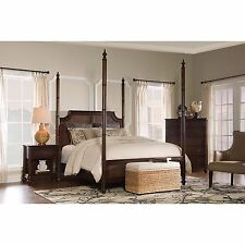 Passages Four-Poster Canopy Bed British Colonial Style - FREE Shipping!