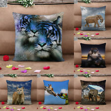 "Animal Print Forest Natural Cushion Covers Home Decor Throw Pillow Cases 17"" 2PS"